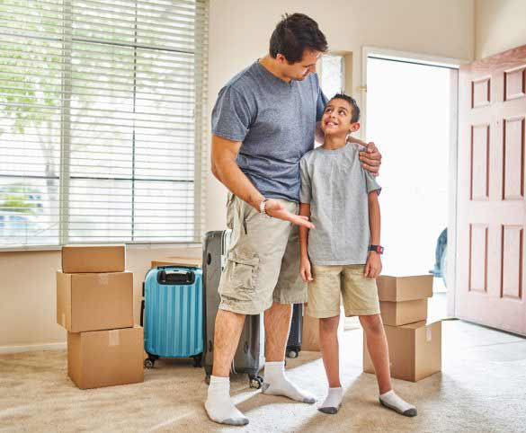 How can you help your child through relocation?
