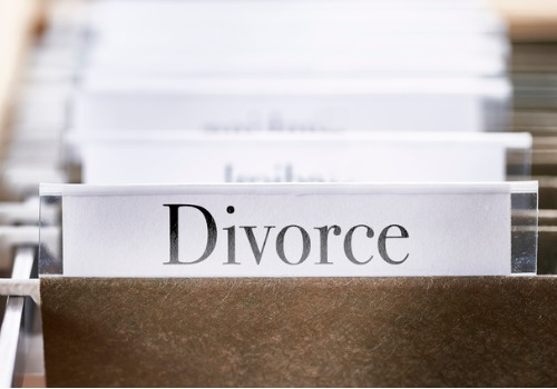 """A file labeled """"divorce,"""" for Divorce Lawyers in Peoria IL"""