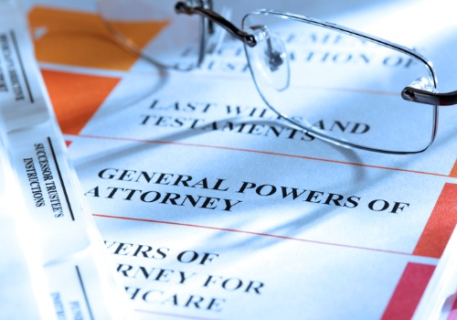 A sheet listing all the parts of estate planning in Peoria IL