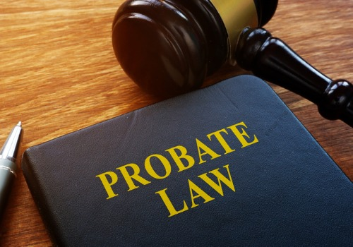 Probate Law Book and Gavel on Desk of Probate Attorney in Peoria IL