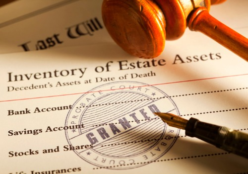 Inventory of Estate Assets on the Desk of a Probate Attorney in Morton IL