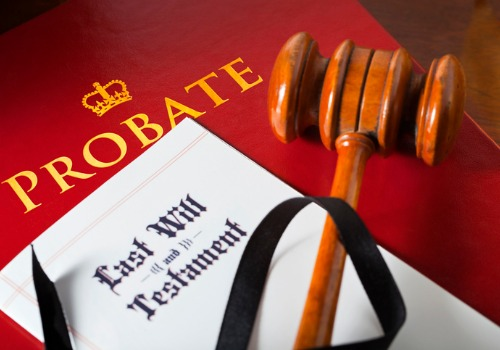 A gavel on top of a will, all for Probate Law in Peoria IL