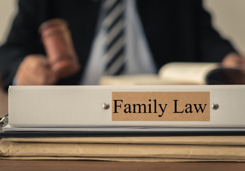 A folder labeled for Family Law in Pekin IL
