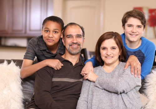 A happy family after receiving help with adoption, a part of Family Law in Morton IL