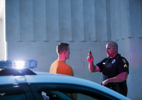 A man undergoing a sobriety test, who may soon need a DUI Attorney in Washington IL