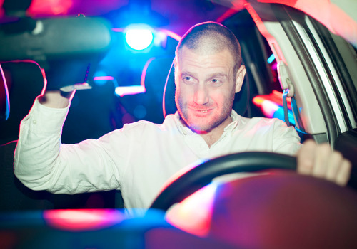 A driver about to be pulled over and to receive a Felony in DUI Washington IL